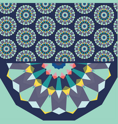 banner with geometric patterns vector image