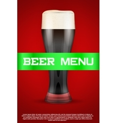 Beer menu poster or cover vector
