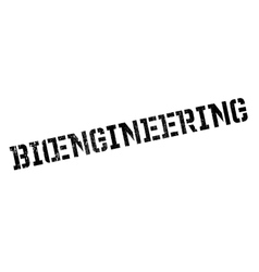 Bioengineering rubber stamp vector