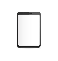 black tablet mockup with blank white screen vector image