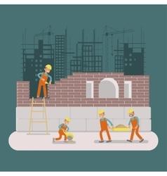 Builders construction working vector