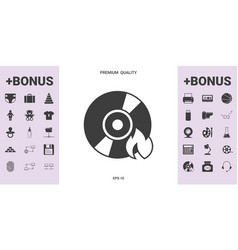 Burn cd or dvd icon - graphic elements for your vector