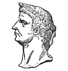 Claudius vintage vector