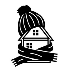 clothes house icon simple style vector image