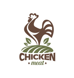 Cockerel and chicken logo template stylized vector
