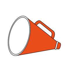 Color silhouette image megaphone flat icon vector