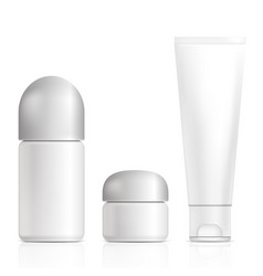 cosmetic products isolated vector image