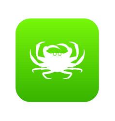 crab icon digital green vector image
