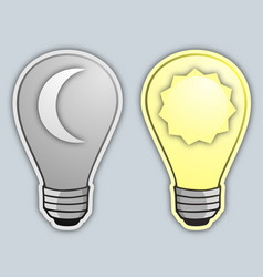 Day and night bulb vector