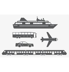 different kinds transport vector image