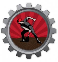 Digger badge vector