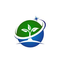 eco green success vector image