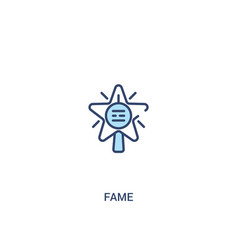 Fame concept 2 colored icon simple line element vector
