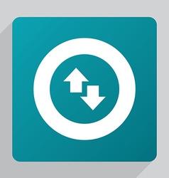 flat 2 side arrow icon vector image