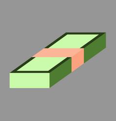 Flat icon on stylish background bundle of money vector