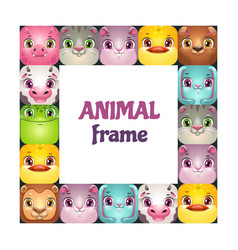 funny square frame with comic cartoon vector image