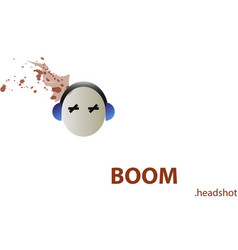 Game graphic headshot vector