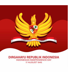 Garuda indonesian independence day 17 august vector