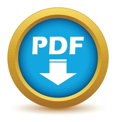 Gold pdf download icon vector image
