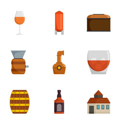 grape plantation icons set cartoon style vector image
