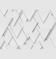 grey triangles with striped pattern abstract tech vector image