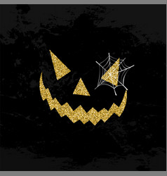 halloween scary face glitter art concept design vector image