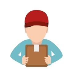 Man box service delivery vector