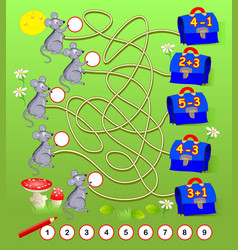 Math education for young children solve examples vector