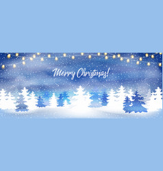 merry christmas banner poster or greeting card vector image
