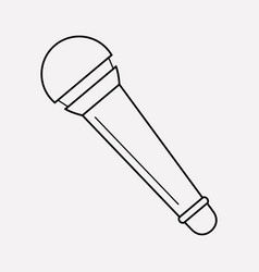 Microphone icon line element vector