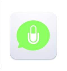 Modern microphone icon in bubble speech vector
