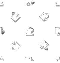 money wallet pattern seamless vector image