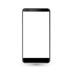 new phone front black drawing eps10 format vector image