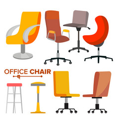 office chairs set business hiring and vector image