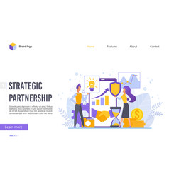 perspective strategic partnership flat design vector image