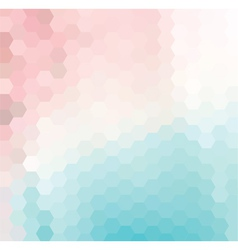 Pink and Blue Hexagonal Grid vector image
