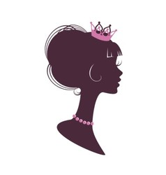 Portrait of a beautiful princess vector image
