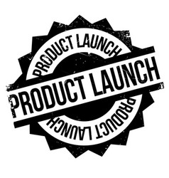 Product launch rubber stamp vector