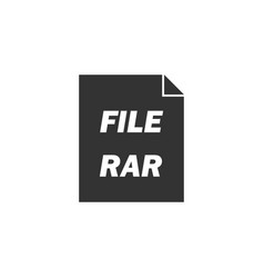 Rar icon flat vector