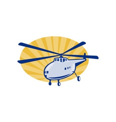 Retro style helicopter or chopper vector
