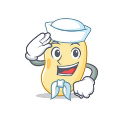Sailor soy bean character cartoon vector