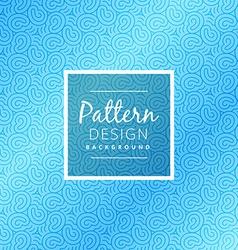 Seamless blue pattern design vector
