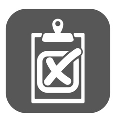 The checklist icon Clipboard and failed task vector