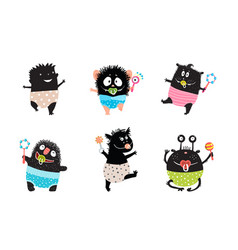 toddlers babies and infants monsters clip art vector image