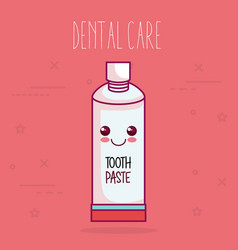 tooth paste dental care icon vector image