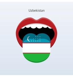 Uzbekistan language Abstract human tongue vector