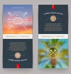 Vertical banners with Nautical and Travel sign vector image
