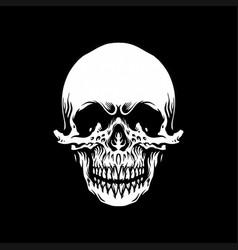 vintage skull monochrome emblem vector image