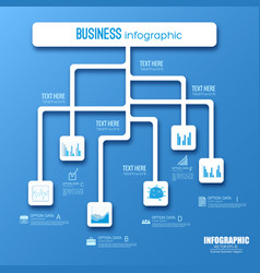 web infographic flowchart design vector image