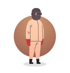 welder man icon industrial worker professional vector image